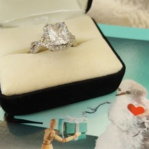 Jewelry - 925 Silver Ring with CZ stone size 8